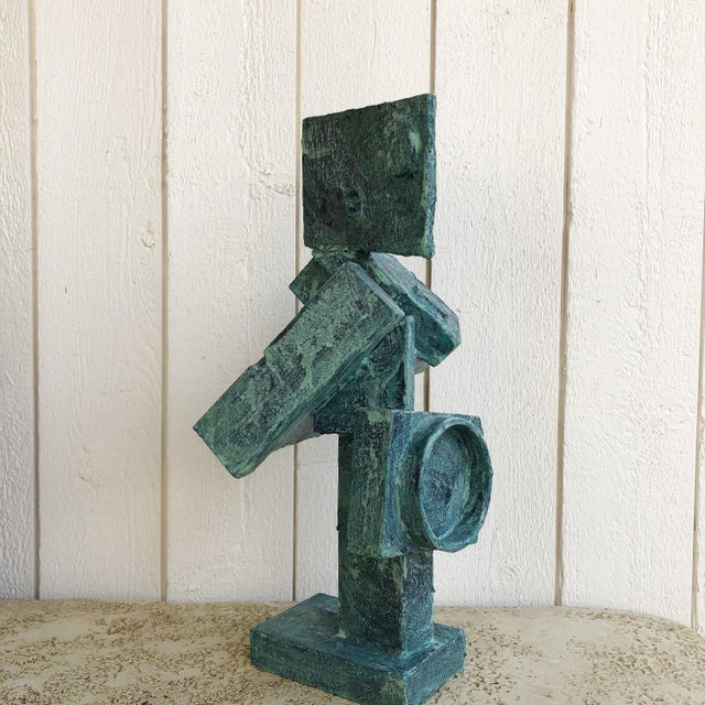 """Abstract Cubist Sculpture """"Dancer"""" by Bill Low For Sale - Image 9 of 13"""