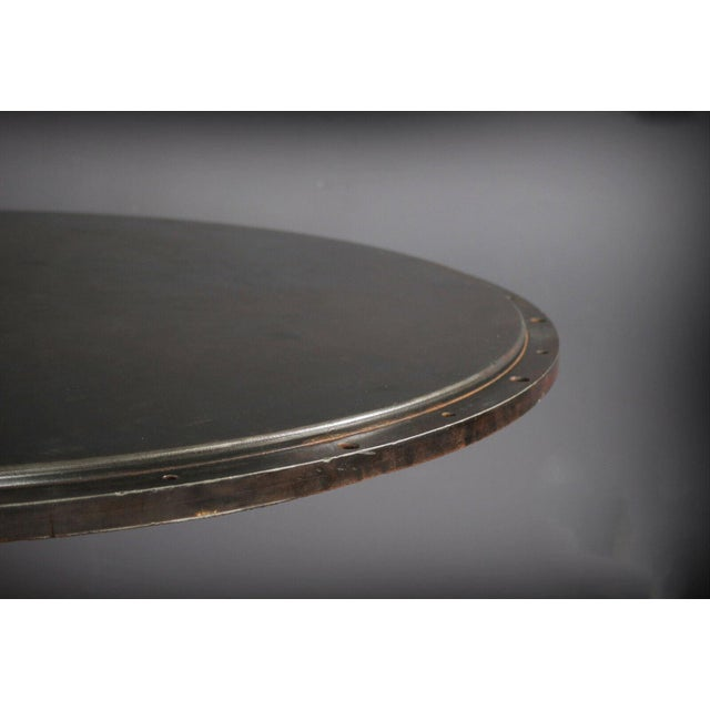 "Industrial 1930 Industrial Sander Drum 40"" Pub Table For Sale - Image 3 of 6"