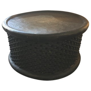 African Bamileke Wood Coffee Table For Sale