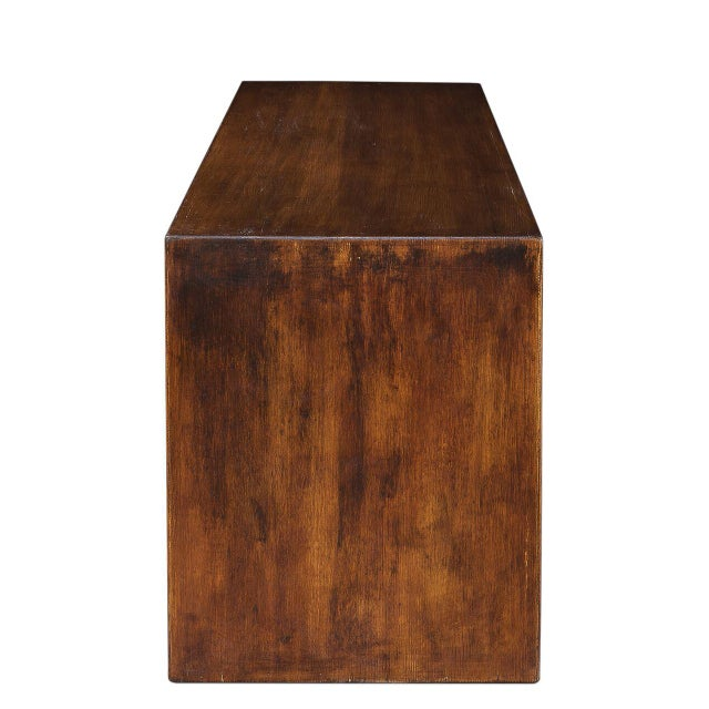 Sarreid LTD Modern Pine Wood Console - Image 4 of 6