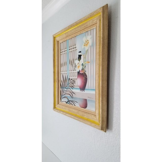 80s Reibel Postmodern Still Life Painting For Sale - Image 4 of 13