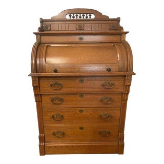 Antique Cylinder Rolltop Desk For Sale