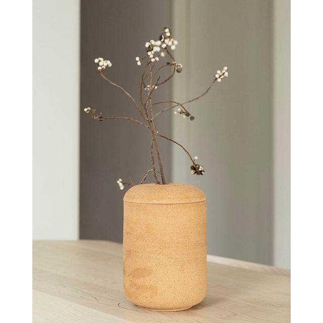 """By Julianne Ahn Starting Price: $750 Specifications: 7"""" dia x 10.5"""" h Speckled Buff - handbuilt speckled stoneware, mid-..."""