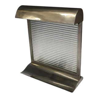 Modernist Art Deco Nickeled Bronze Table Lamp Attributed to Donald Deskey For Sale