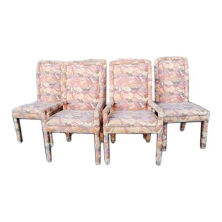 Mastercraft Mid-Century Upholstered Parsons Dining Chairs - Set of 6 For Sale