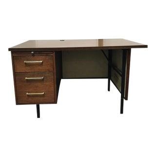 Mid-Century Single Pedestal Desk