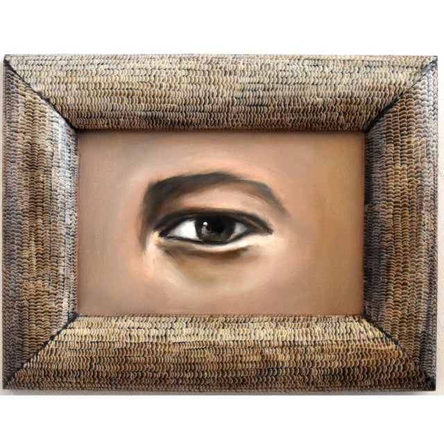 2020s Contemporary Lover's Eye Oil Painting by Susannah Carson For Sale - Image 5 of 5