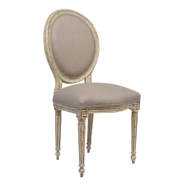 Antique French Louis XVI-Style Dining Chairs - Set of 6 - Image 2 of 10