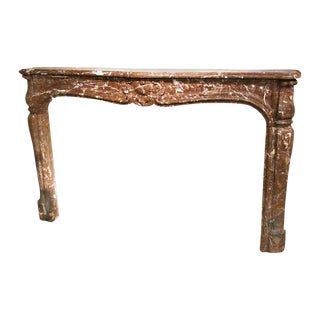 Louis XV Rouge Royale Brown Marble Mantel