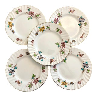1960s Mintons Vermont 365 China Luncheon Plates - Set of 5