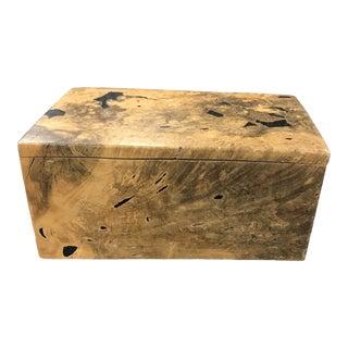 1980s Jeff Trag Burl Jewelry Box For Sale