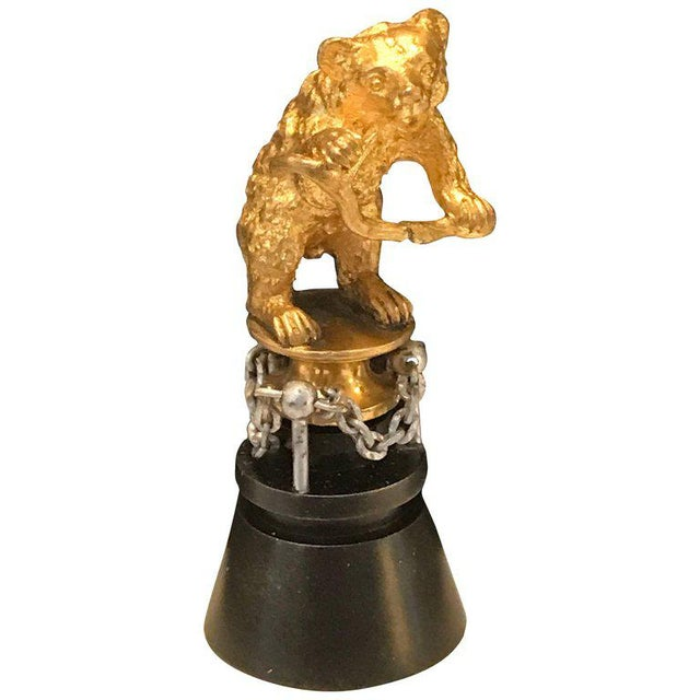 "19th Century Russian Ormolu ""Dancing Bear"" Sculpture For Sale - Image 11 of 11"