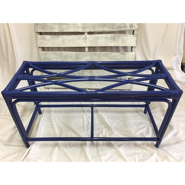 Royal Blue Tani Wood Console Table - Image 11 of 11