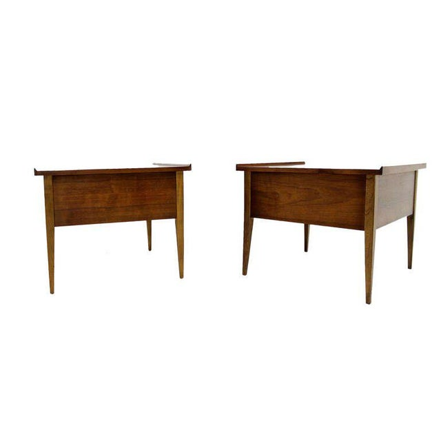 Pair of Danish Mid-Century Modern Walnut End Tables For Sale In New York - Image 6 of 8