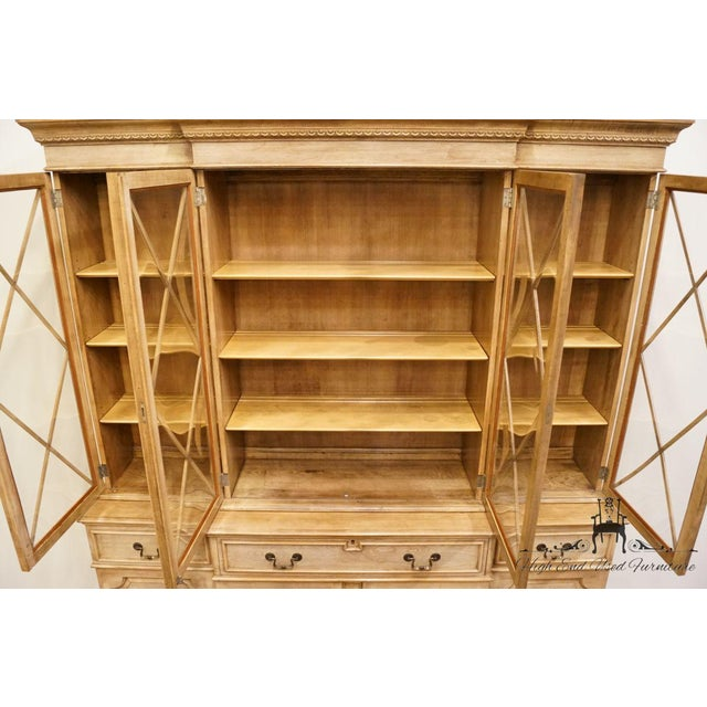 """Late 20th Century Saginaw Furniture Country French Regency 72"""" Secretary Display China Cabinet For Sale - Image 5 of 13"""