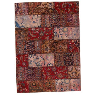 Pasargad N Y Persian Patch-Work Hand-Knotted Rug - 5′ × 7′ For Sale
