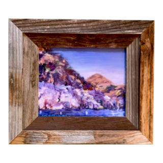 """""""Lake Mead Nevada"""" Contemporary Landscape Oil Painting, Framed For Sale"""