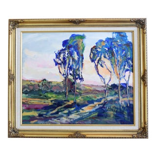 Juan Guzman Ojai California Landscape Oil Painting For Sale