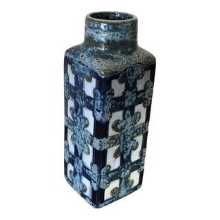 1960s Mid-Century Modern Danish Nils Thorsson Faience Ceramic Bud Vase for Royal Copenhagen For Sale