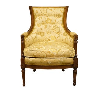 Late 20th Century Vintage Woodmark Originals Italian Neoclassical Tuscan Accent Arm Chair For Sale