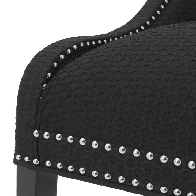 Black Wingback Side Chair | Eichholtz Elson For Sale In Greensboro - Image 6 of 7