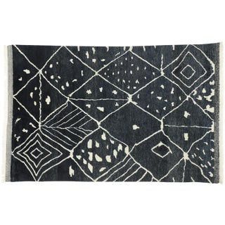 Contemporary Moroccan Style Area Rug - 6′1″ × 9′ For Sale