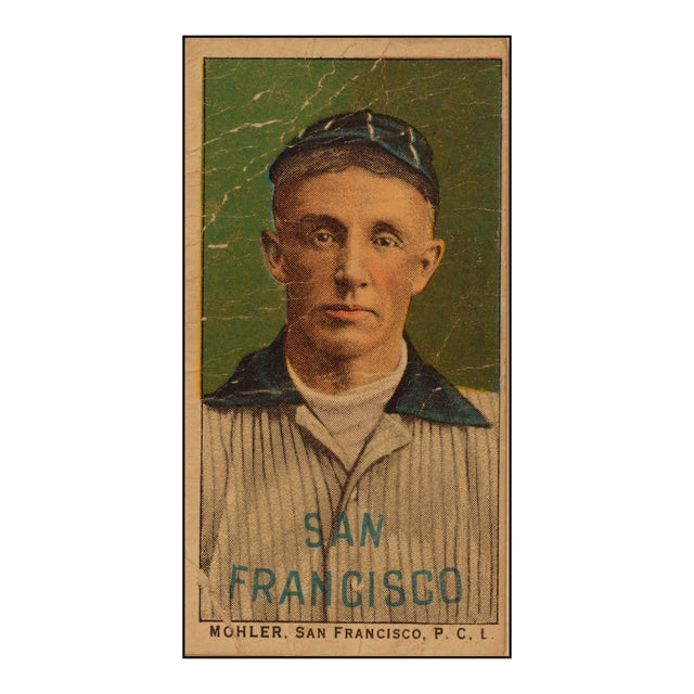 1800s San Francisco Baseball Card Print For Sale