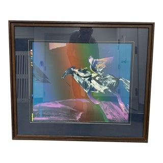 Veloy Vigil Framed Serigraph Signed + Numbered 49/65 - Horse For Sale