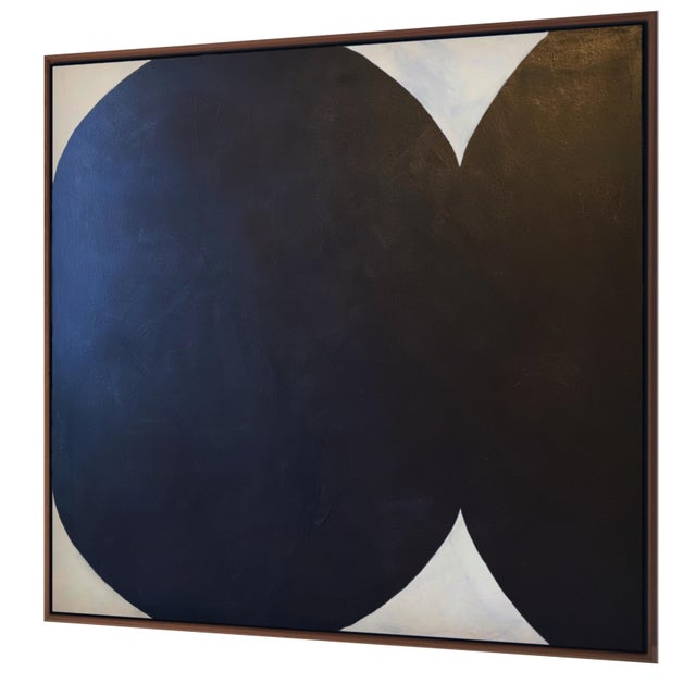 Contemporary Contemporary Minimalist Abstract Monochromatic Acrylic and Gesso Painting by Brooks Burns, Framed For Sale - Image 3 of 5