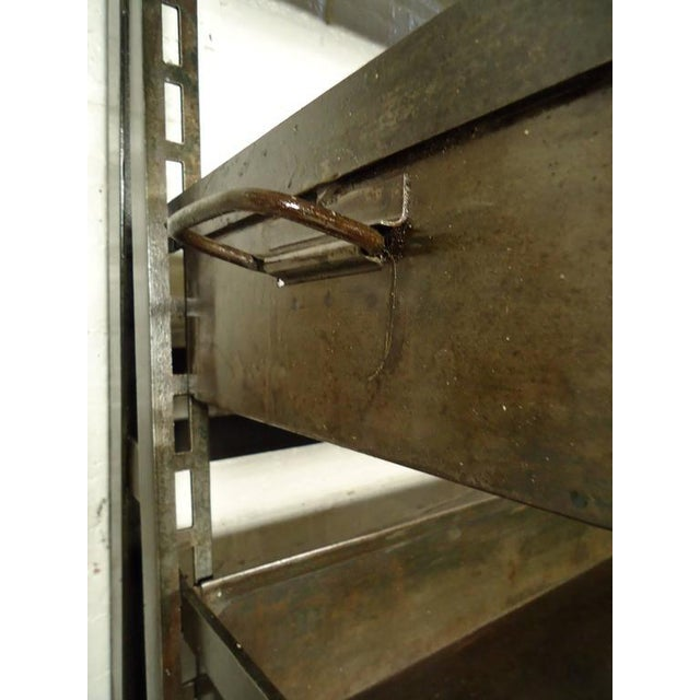 Metal Industrial Five Level Shelving Unit For Sale - Image 7 of 8