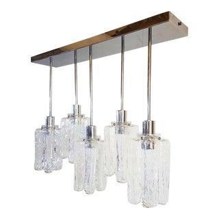Contemporary d'Lightus Chrome & Murano Glass Bespoke Chandelier For Sale