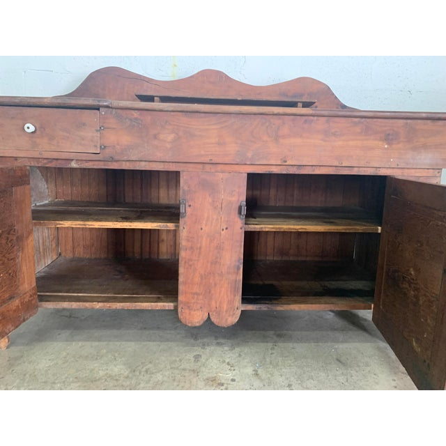 Late 18th Century Antique Rustic Farmhouse Dry Sink For Sale - Image 5 of 9