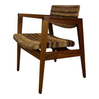 Vintage Mid Century Modern W.H. Gunlocke Walnut Lounge Chair For Sale