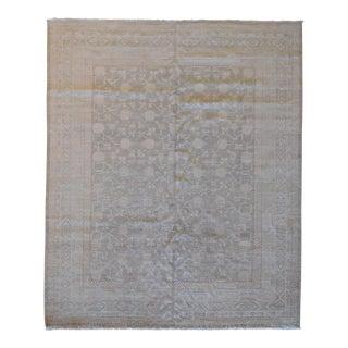 """Gray & White Khotan Rug - 8'2"""" X 10"""