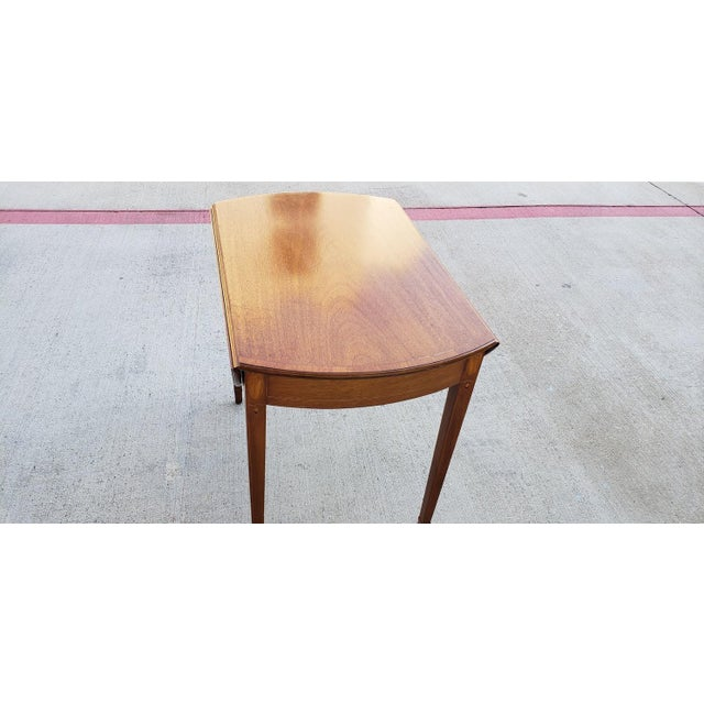 1950s Mid-Century Modern Biggs Mahogany Pembroke Drop Leaf Side Table For Sale In Dallas - Image 6 of 13