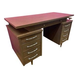 Vintage Mid Century Modern Jens Risom Style Desk For Sale