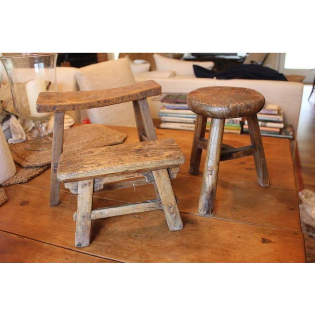 Rustic French Round Stool - Image 5 of 6