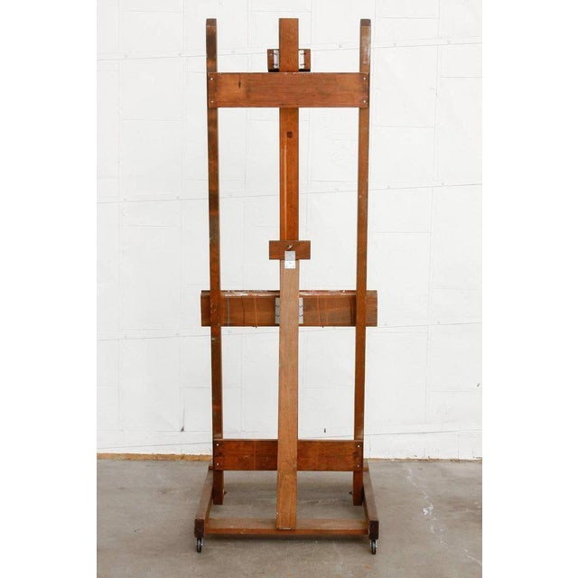 Midcentury Wooden Adjustable Painters Art Studio Easel For Sale - Image 4 of 13