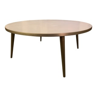1950s Vintage Round Low Top Coffee Table For Sale