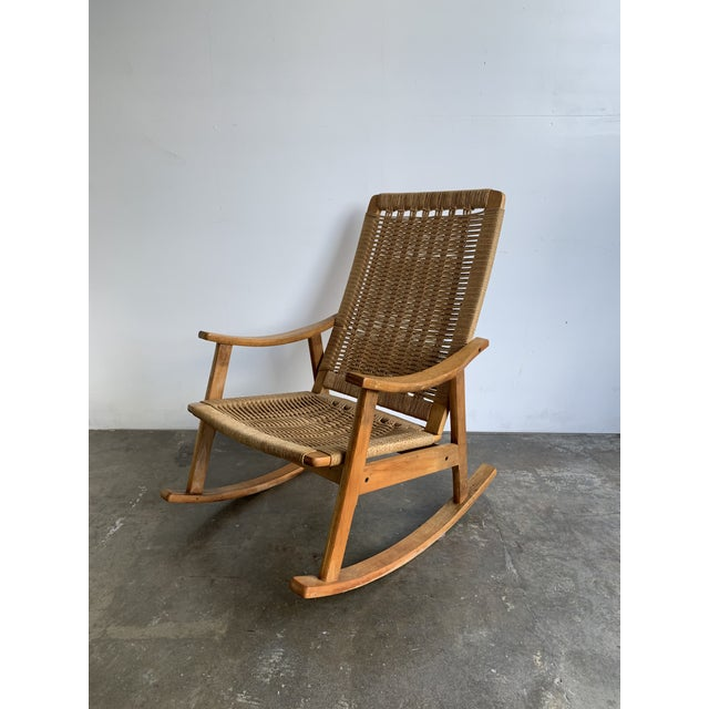 Mid Century Rope Rocking Chair For Sale - Image 13 of 13