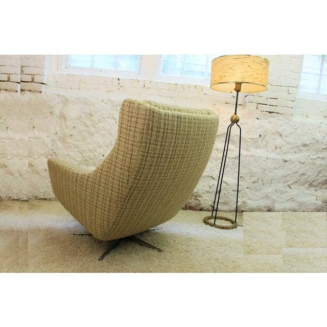 Mid-Century John Stuart Upholstered Chair Ottoman For Sale In Boston - Image 6 of 11