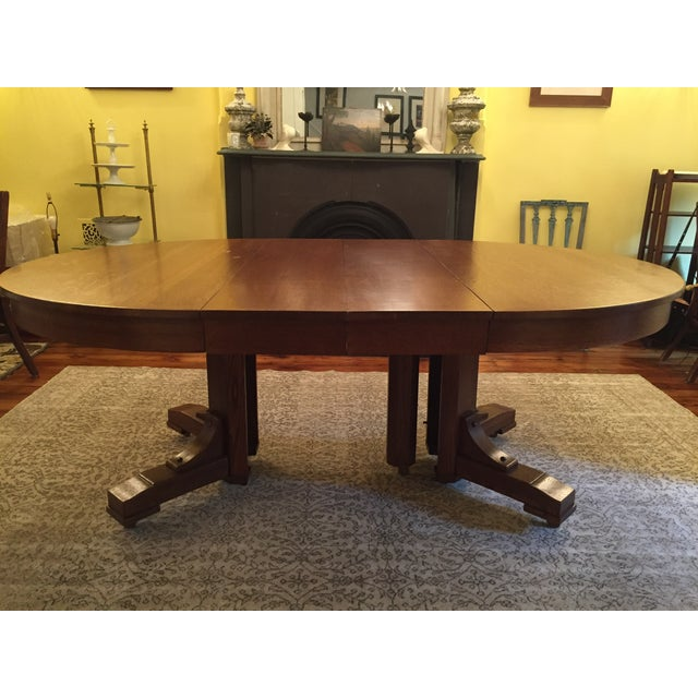 Antique Arts and Crafts Period Dining Table - Image 2 of 4