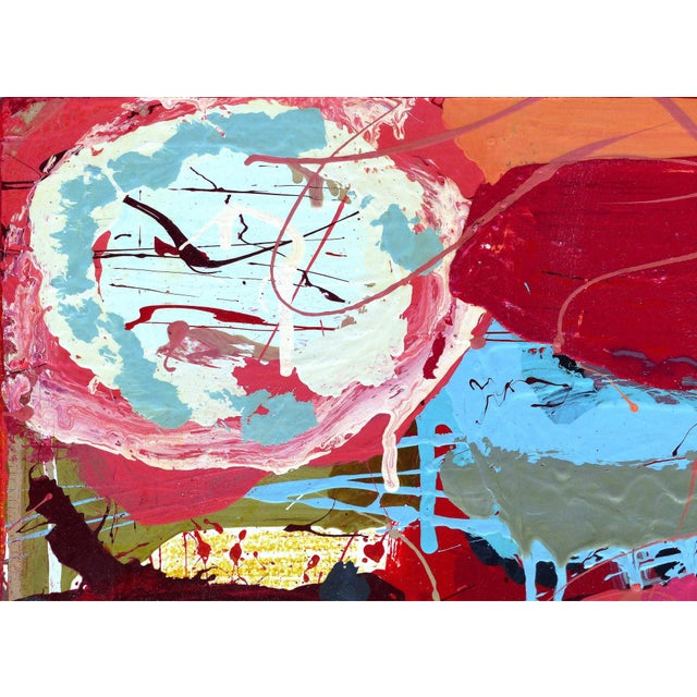 """William P. Montgomery Abstract Mixed Media Painting """"Cornucopia 2"""" on Wood Offered for sale is a mixed-media of acrylic...."""