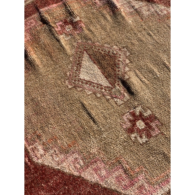 "1950s 1950s Vintage Turkish Oushak Wide Runner-5'8"" X 11' For Sale - Image 5 of 13"