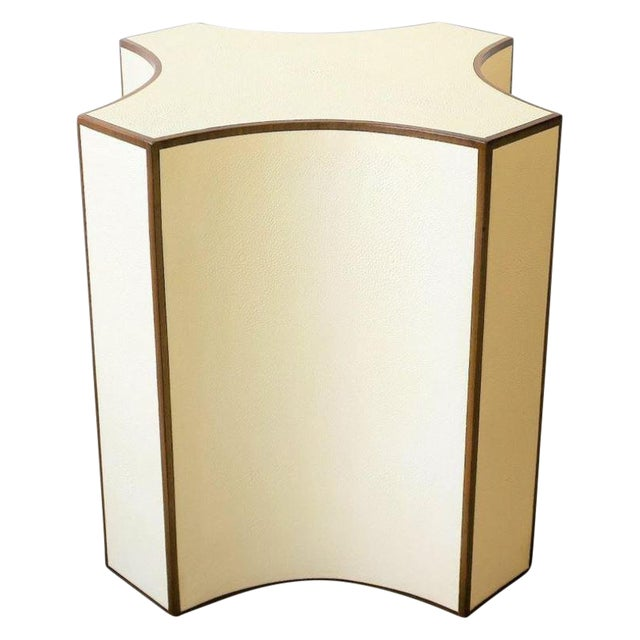 Contemporary Shagreen Esque Side Table For Sale