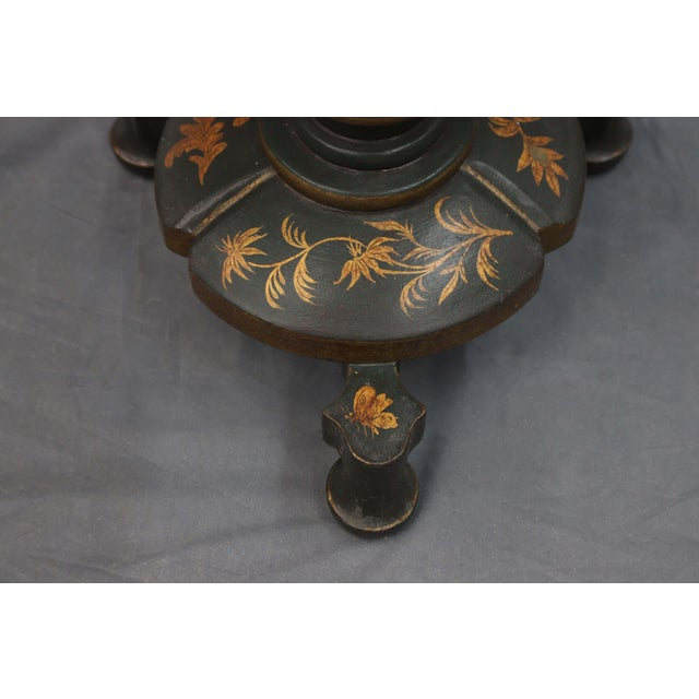 Mid 20th Century Floor Lamp With Table and Golden Leaves For Sale - Image 4 of 7