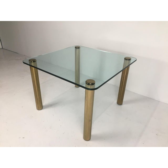 1970s Regency Pace Collection Brass and Glass Dining or Games Table For Sale - Image 5 of 13