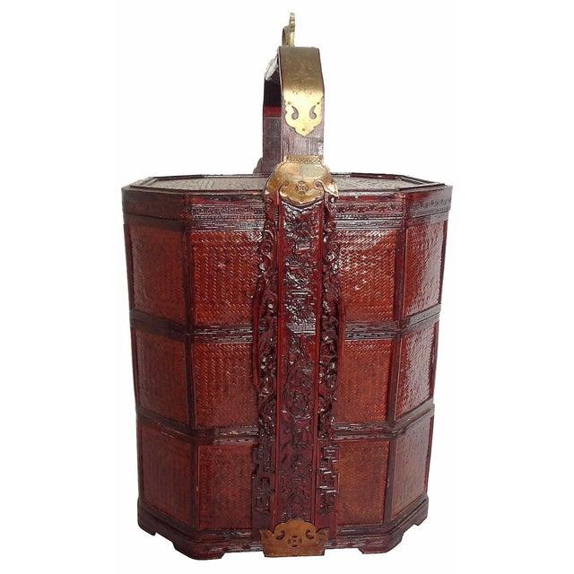 Vintage 3-Tier Chinese Wedding Basket - Image 1 of 7