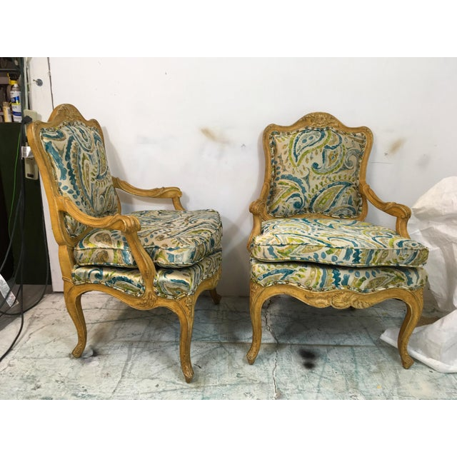 Pair of French Style Chairs For Sale In Atlanta - Image 6 of 9