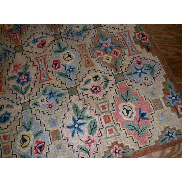 "1900 - 1909 1900s Antique American Hooked Rug- 6' x 8'10"" For Sale - Image 5 of 8"